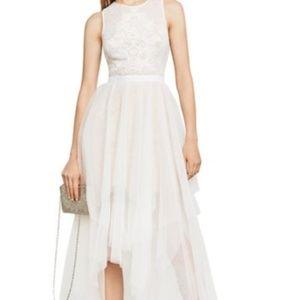 NWT BCBG White Tulle Dress